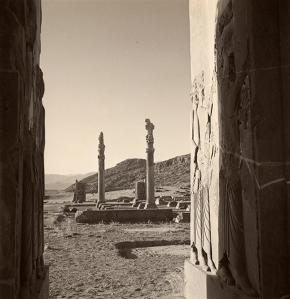Ruins of the palace at Persepolis 1949, picture from the V&A website