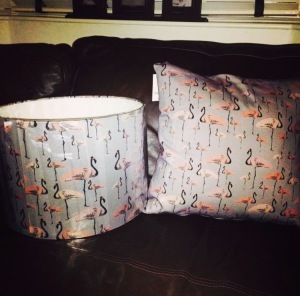 No idea where these Flamingo print lampshades & cushions are going yet- but I couldn't resist them!