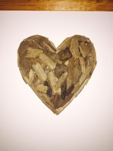 Driftwood heart- a gift from my Husband on our 5th (Wooden) Wedding Anniversary